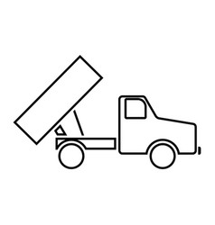 dumper black color icon vector image