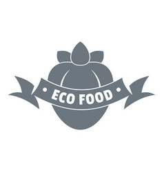 eco fresh food logo simple style vector image