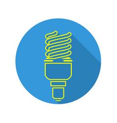 Energy saving light fluorescent light bulb vector