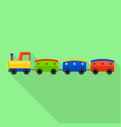 fashion toy train icon flat style vector image