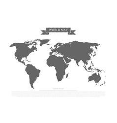 flat world map vector image