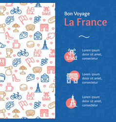 france travel and tourism concept infographics vector image