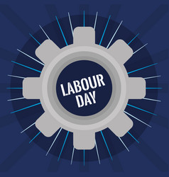 Gear settings labour day vector