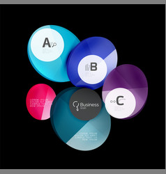 Geometrical abstract infographics banner template vector