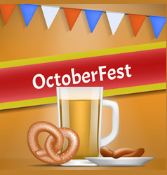 german oktoberfest concept banner realistic style vector image