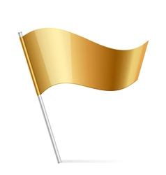 gold flag vector image vector image