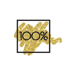 gold sale 100 percent shine salling background vector image