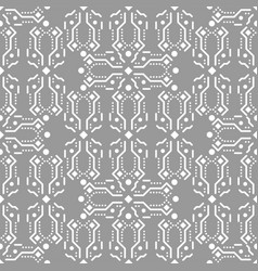 Gray and white ornament seamless pattern vector
