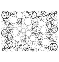hand drawn of lovely christmas ornaments backgroun vector image