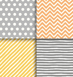 Hand drawn painted vintage seamless geometric vector