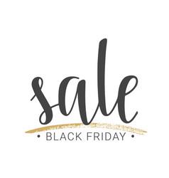 handwritten lettering of black friday sale vector image