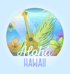 Hawaiian postcard vector