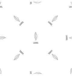 laurel leaf pattern seamless vector image