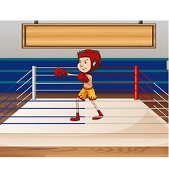 Man in boxing ring vector