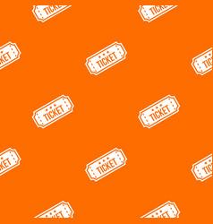 movie ticket pattern seamless vector image