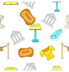 Museum pattern cartoon style vector
