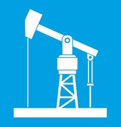 Oil pump icon white vector