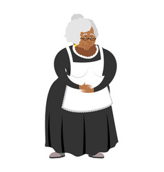 Old african-american governess isolated pedagogue vector