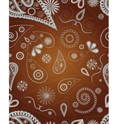 ornament for seamless background vector image
