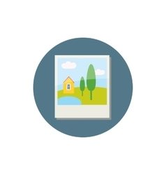 Photo card icon cartoon style vector