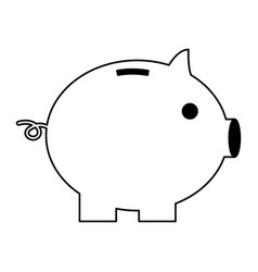 piggy bank safe money isolated vector image