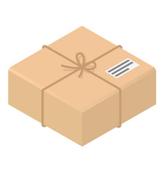 postal carton box icon isometric style vector image