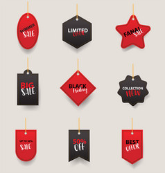 price tags labels collection sale banners design vector image