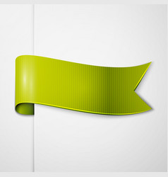 Realistic shiny green-yellow ribbon isolated vector