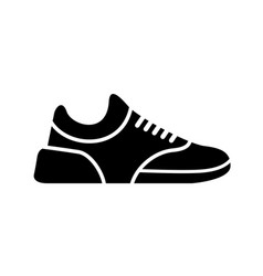 running shoes icon fitness simple style sneaker vector image