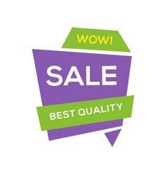 sale banner design template flat origami speech vector image