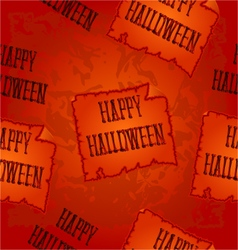 Seamless texture Happy Halloween inscription vector image
