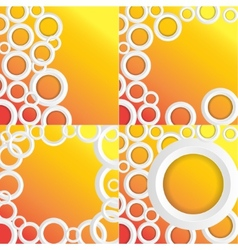 Set Circles Background with place for your text vector image