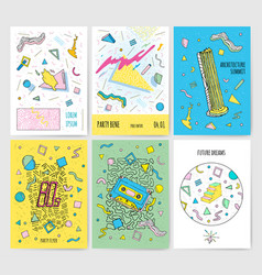 Set of abstract modern cards templates with vector
