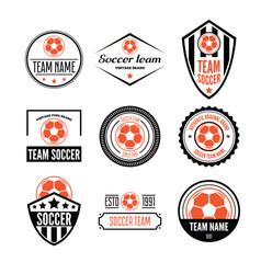 Set of football or soccer club logo set vector