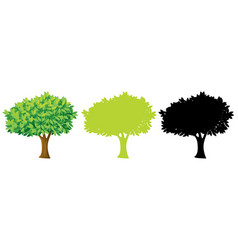 set tree design vector image