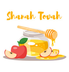 Shanah tovah greeting card vector