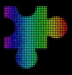 Spectral colored dotted plugin icon vector