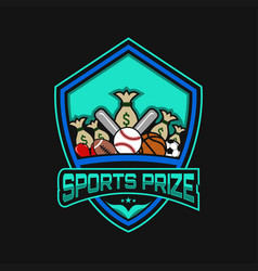sports prize vector image
