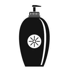 Sun lotion dispenser icon simple style vector