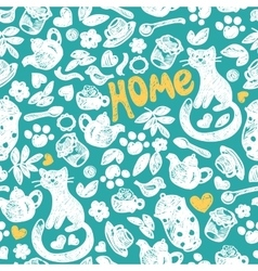 Sweet home seamless pattern vector