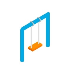 Swing isometric 3d icon vector image