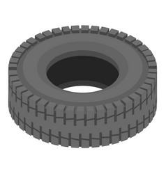 Tyre icon isometric style vector