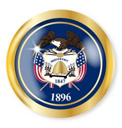 Utah flag button vector
