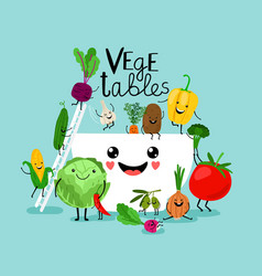 Vegetables salad diet vector