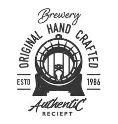 vintage monochrome brewery logo vector image