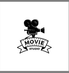vintage movie studio vector image