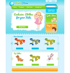 Web template for kid shop vector image vector image