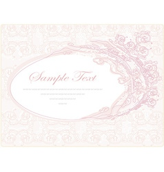 wedding invitation floral frame vector image