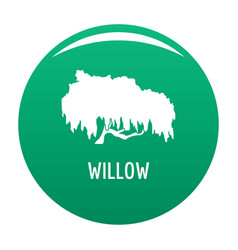Willow tree icon green vector