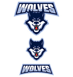 Wolf mascot symbol vector